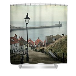 Vintage Whitby Shower Curtain