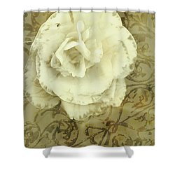 Vintage White Flower Art Shower Curtain by Jorgo Photography - Wall Art Gallery