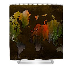Vintage World Shower Curtain