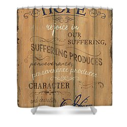 Vintage Wtlb Hope Shower Curtain