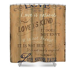 Vintage Wtlb Love Shower Curtain