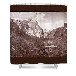 Shower Curtain featuring the photograph Vintage Yosemite Valley 1899 by John Stephens