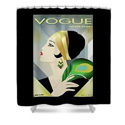 Vinttage Vogue Cover April 1929 Shower Curtain