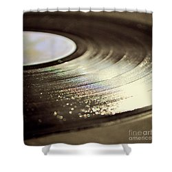 Vinyl Record Shower Curtain by Lyn Randle