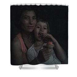 Vio E Francy One Part Of My Breath Shower Curtain by Giuseppe Epifani