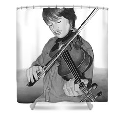 Shower Curtain featuring the painting Viola Master by Ferrel Cordle