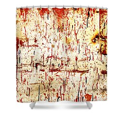 Violent Red Shower Curtain