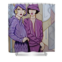 Violet And Rose Shower Curtain by Tara Hutton