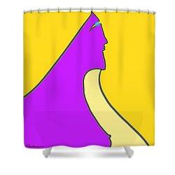 Violet Blonde Shower Curtain