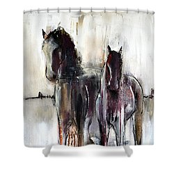 Violet Mirage Shower Curtain
