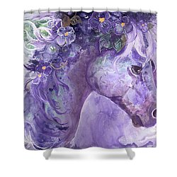 Violet Fantasy Shower Curtain by Sherry Shipley