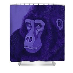 Violet Gorilla Shower Curtain