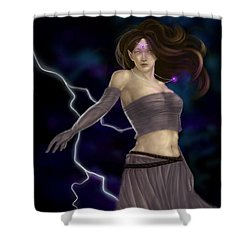 Shower Curtain featuring the digital art Violet Magic by Amyla Silverflame