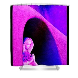 Violet Virgin Of Guadalupe Shower Curtain