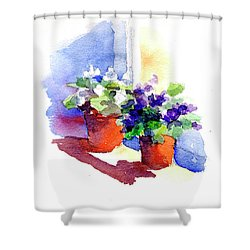 Violets Are Blue Shower Curtain