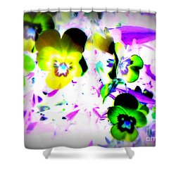 Violets Shower Curtain by Pauli Hyvonen