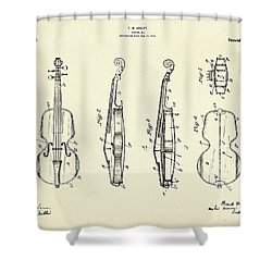 Violin-1921 Shower Curtain