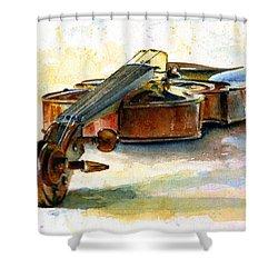 Violin 2 Shower Curtain by John D Benson