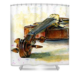 Violin 2 Shower Curtain