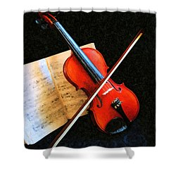 Violin Impression Shower Curtain by Kristin Elmquist