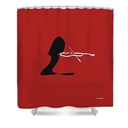 Violin In Orange Red Shower Curtain by David Bridburg