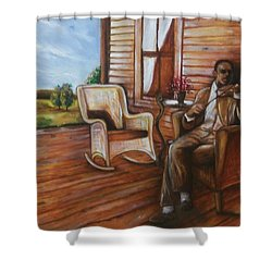 Violin Man Shower Curtain