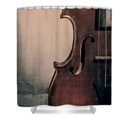 Violin Portrait  Shower Curtain