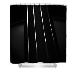 Violin Portrait Music 27 Macro Black White Shower Curtain
