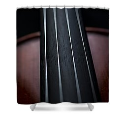 Violin Portrait Music 3 Shower Curtain