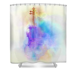 Violin Shower Curtain by Scott Meyer