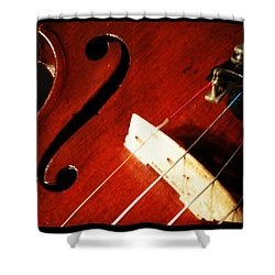 Violin Bridge Shower Curtain by Heather Classen