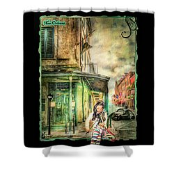 Violinist Evening Shower Curtain
