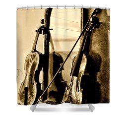 Violins Shower Curtain by Bill Cannon