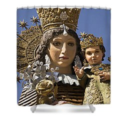 Virgen De Los Desamparados Shower Curtain