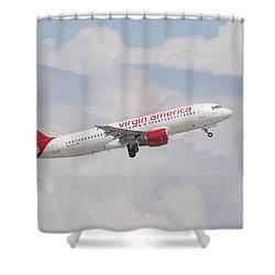 Virgin America Shower Curtain