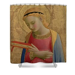 Virgin Annunciate Shower Curtain by Fra Angelico