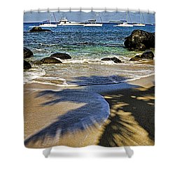 Virgin Gorda Beach Shower Curtain by Dennis Cox WorldViews