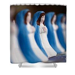 Virgin Mary Shower Curtain by Gaspar Avila