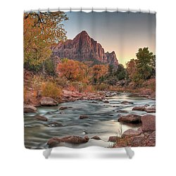 Virgin River And The Watchman Shower Curtain