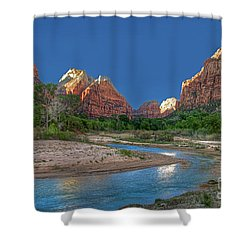 Virgin River Bend Shower Curtain