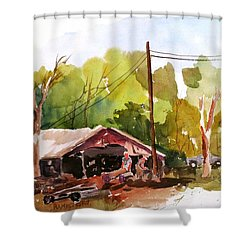 Virginia Saw Mill Shower Curtain