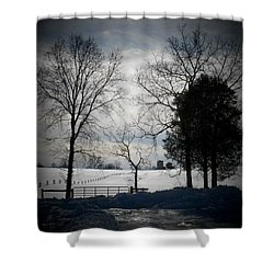 Virginia Snow Shower Curtain