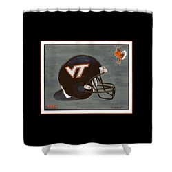 Virginia Tech T-shirt Shower Curtain