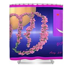 Shower Curtain featuring the digital art Virgo by The Art of Alice Terrill