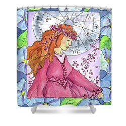 Shower Curtain featuring the painting Virgo by Cathie Richardson