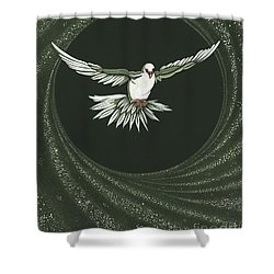Viriditas-holy Spirit Detail Shower Curtain by William Hart McNichols