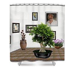 Virtual Exhibition -  Bonsai 13 Shower Curtain by Pemaro