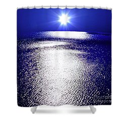 Shower Curtain featuring the photograph Virtual Sea by Tatsuya Atarashi