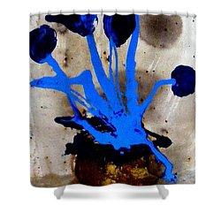 Virtually Blue Shower Curtain