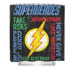 Virtues Of A Superhero 2 Shower Curtain